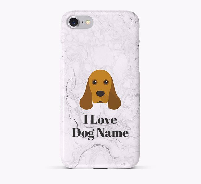 'I Love ' Phone Case with American Cocker Spaniel Icon
