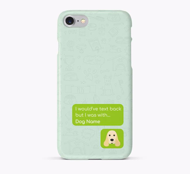 'Text Back' Phone Case with American Cocker Spaniel Icon