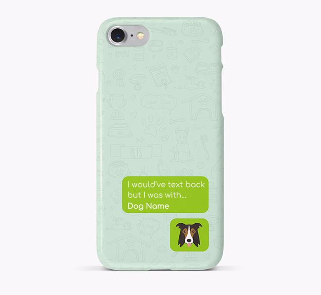 'Text Back' Phone Case with Border Collie Icon