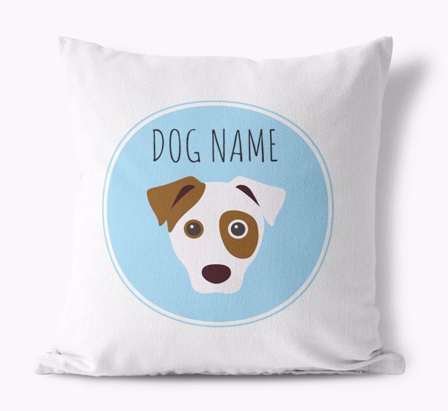 Dog Yappicon Canvas Cushion
