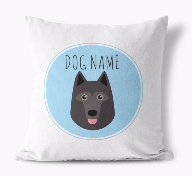 Schipperke Yappicon Canvas Cushion