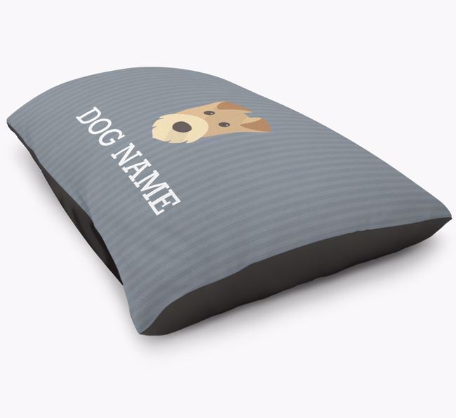 Personalised Airedale Terrier Icon Bed for
