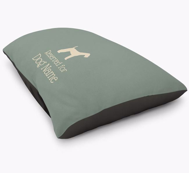 'Reserved For ' Airedale Terrier Personalised Dog Bed