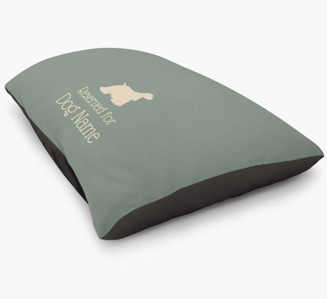 'Reserved For ' American Cocker Spaniel Personalised Dog Bed