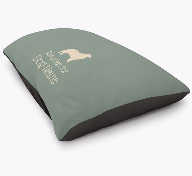 'Reserved For ' Schipperke Personalised Dog Bed