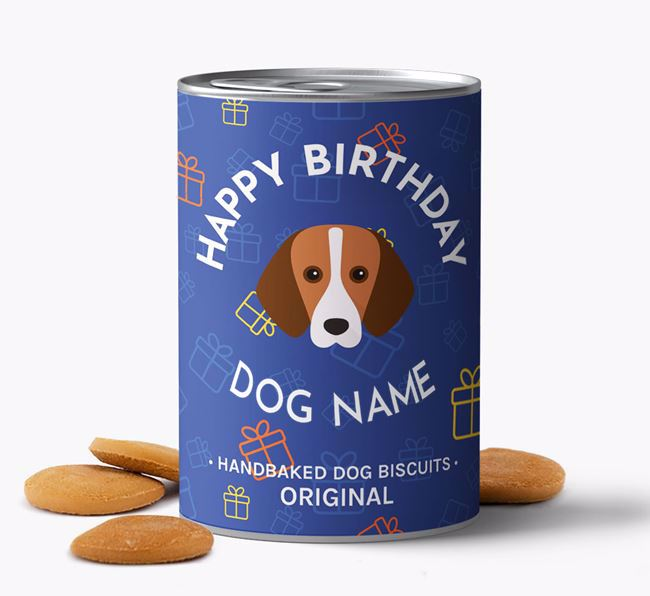 Personalised Birthday Dog Biscuits for