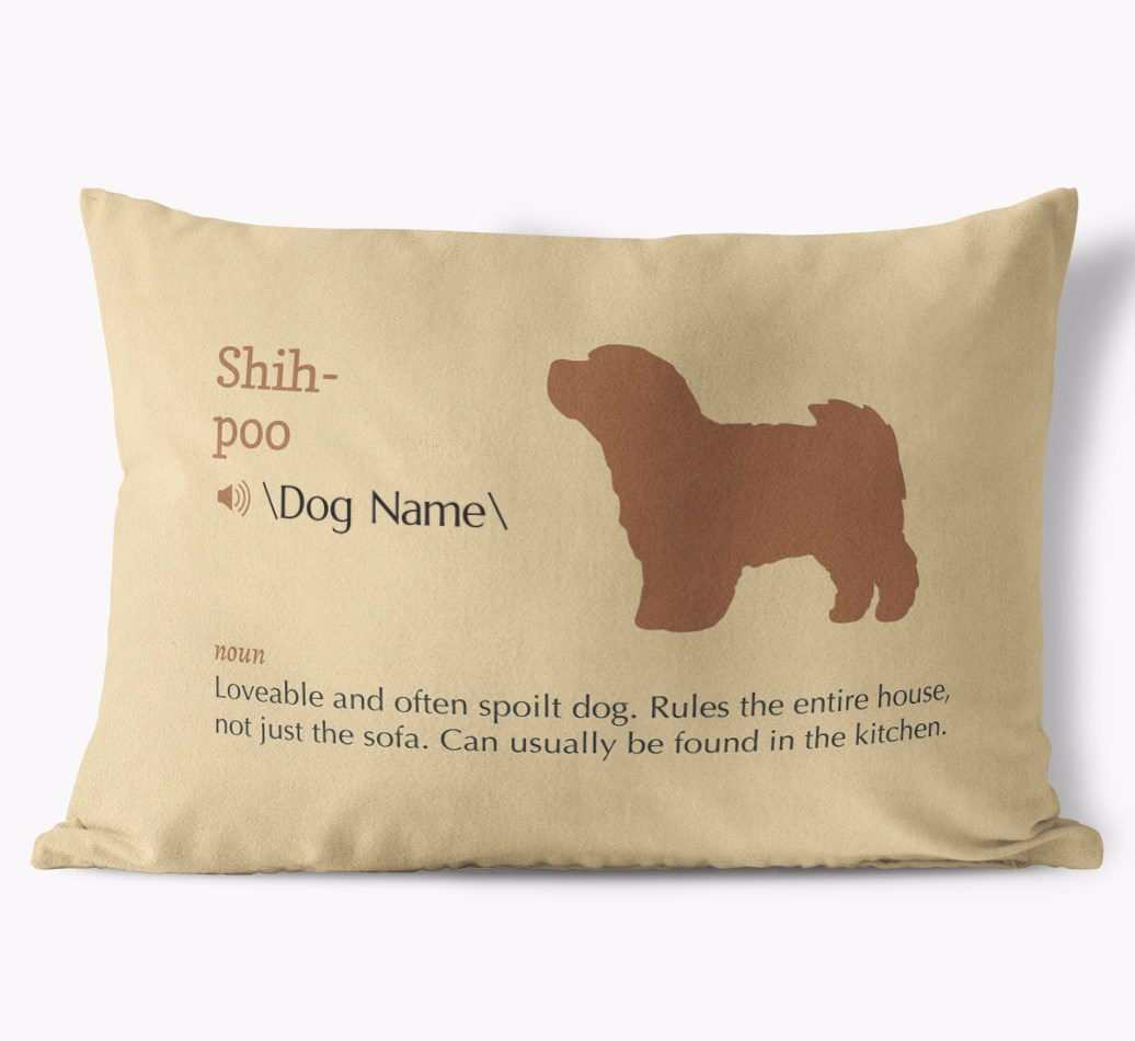 Personalized Shih Poo Pillow Definition Yappy Com