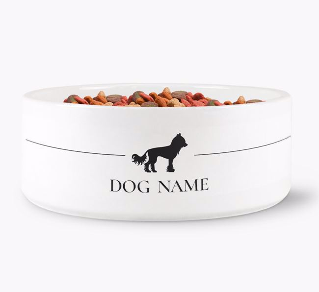 Personalised Chinese Crested Silhouette
