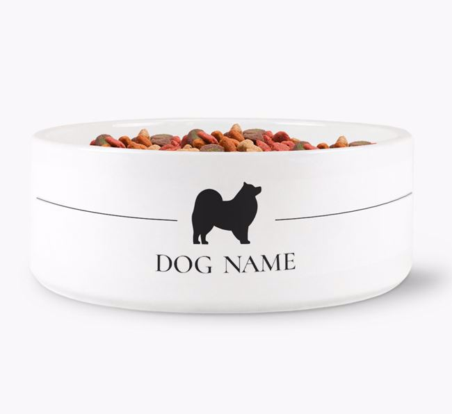 Personalised Japanese Spitz Silhouette