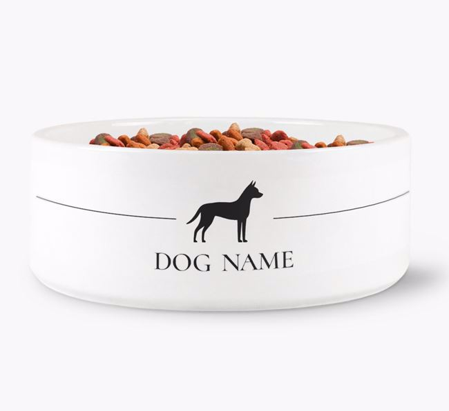 Personalised Manchester Terrier Silhouette