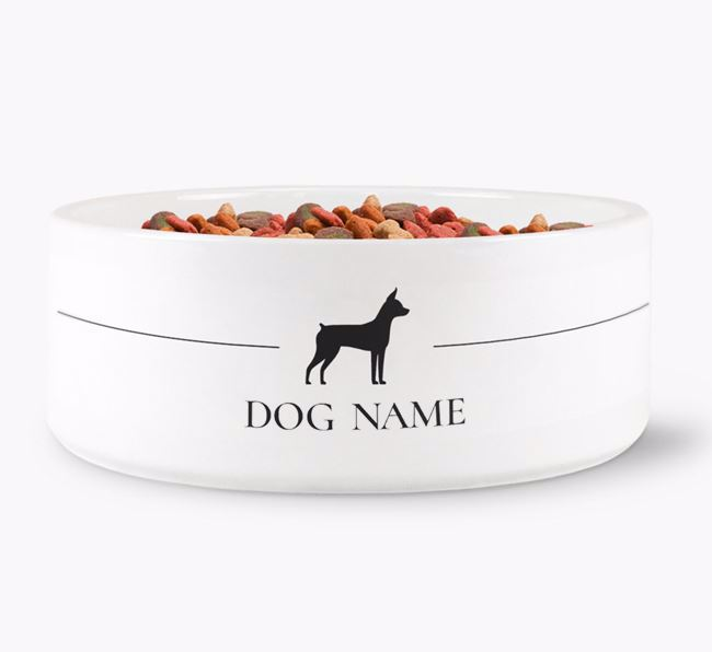 Personalised Miniature Pinscher Silhouette
