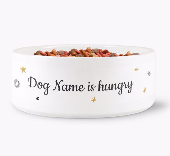 ' is hungry/full' Ceramic Bowl