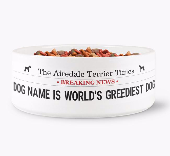 ' Named Top Dog' Dog Bowl}