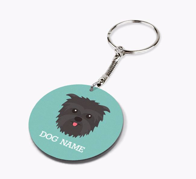 Personalised Affenpinscher Icon Keyring