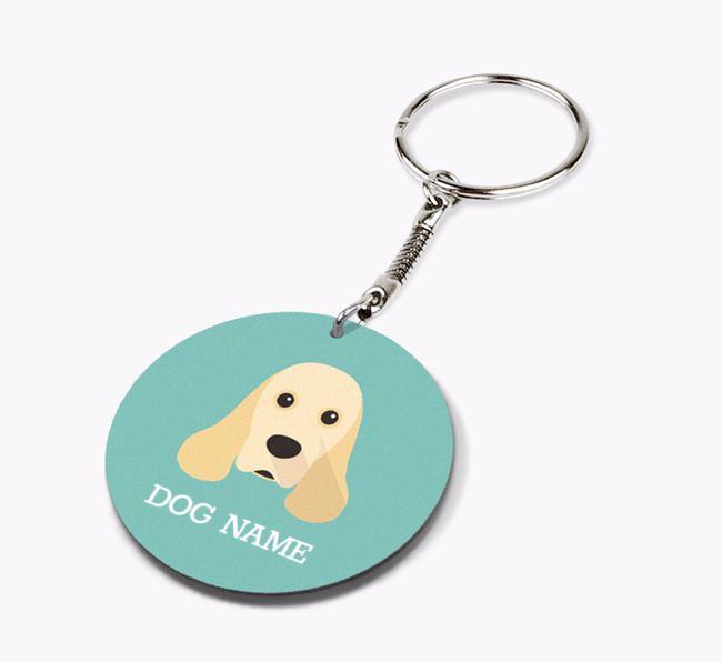 Personalised American Cocker Spaniel Icon Keyring