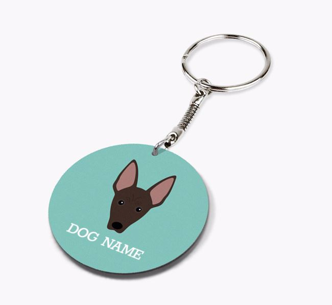 Personalised American Hairless Terrier Icon Keyring