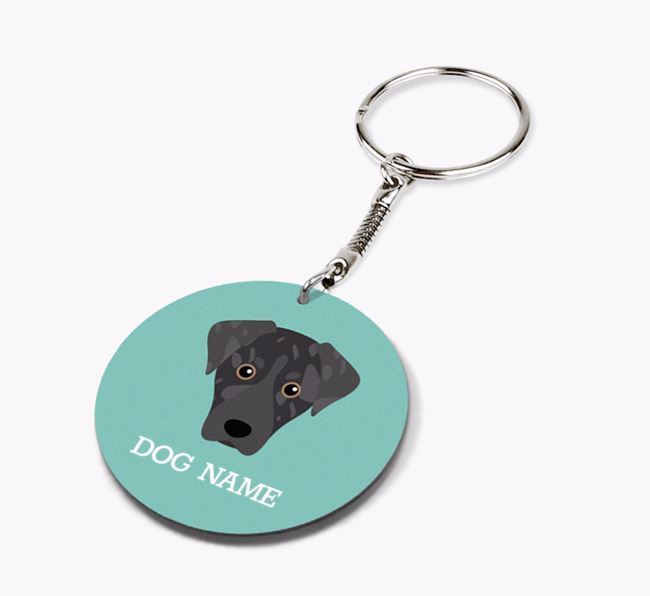 Personalised American Leopard Hound Icon Keyring