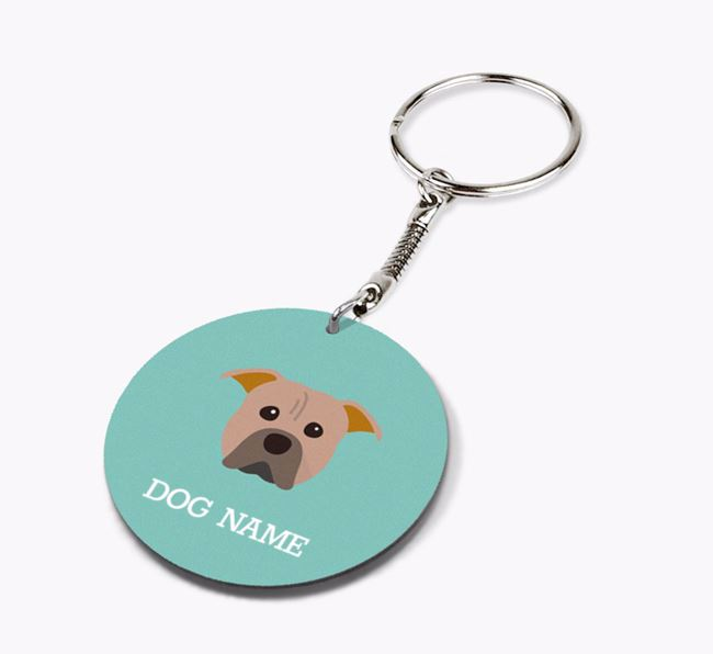Personalised American Pit Bull Terrier Icon Keyring