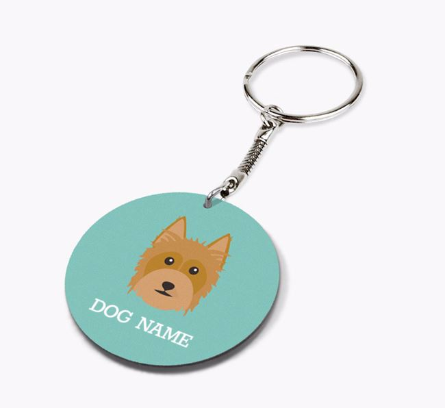 Personalised Australian Silky Terrier Icon Keyring
