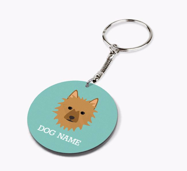 Personalised Australian Terrier Icon Keyring