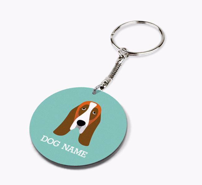 Personalised Basset Hound Icon Keyring
