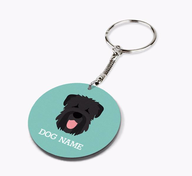 Personalised Black Russian Terrier Icon Keyring