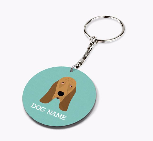 Personalised Bloodhound Icon Keyring
