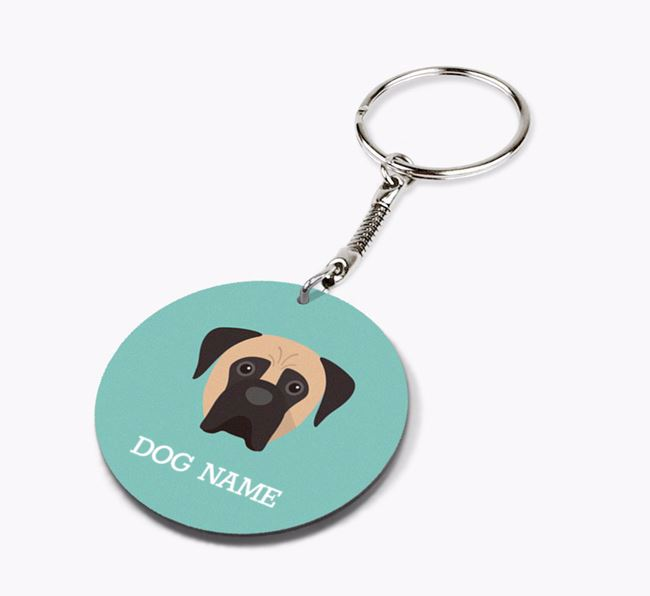 Personalised Boerboel Icon Keyring