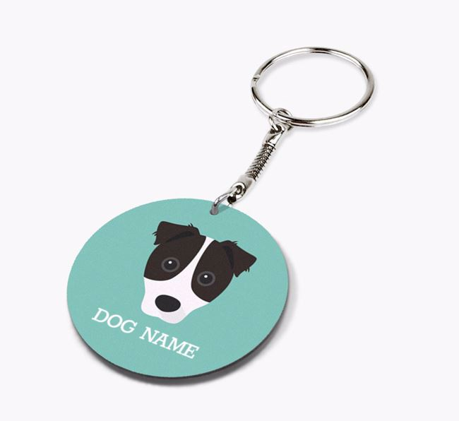 Personalised Border Jack Icon Keyring