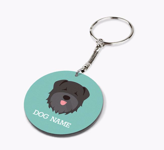 Personalised Bouvier Des Flandres Icon Keyring