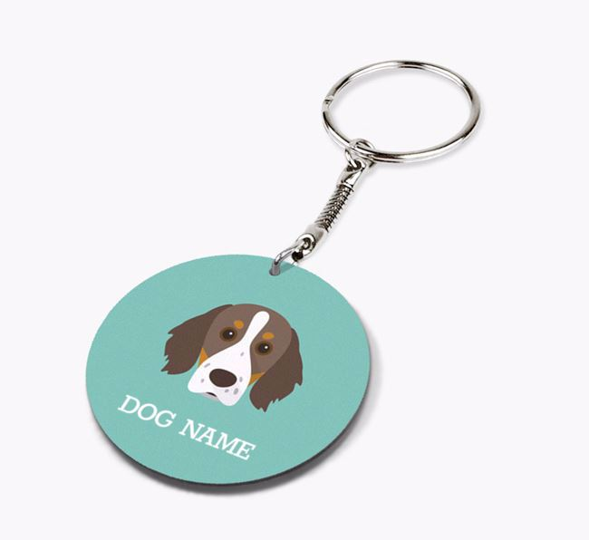 Personalised Brittany Icon Keyring