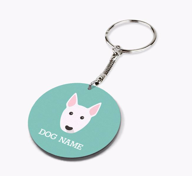 Personalised Bull Terrier Icon Keyring