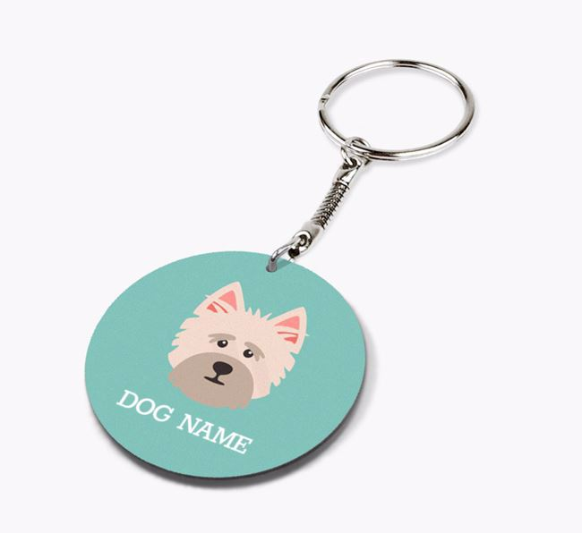 Personalised Cairn Terrier Icon Keyring
