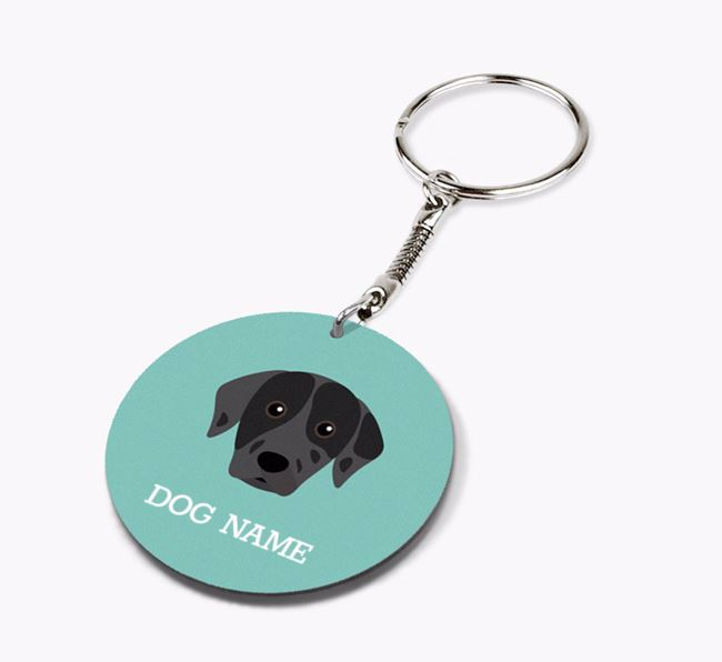 Personalised Catahoula Leopard Dog Icon Keyring