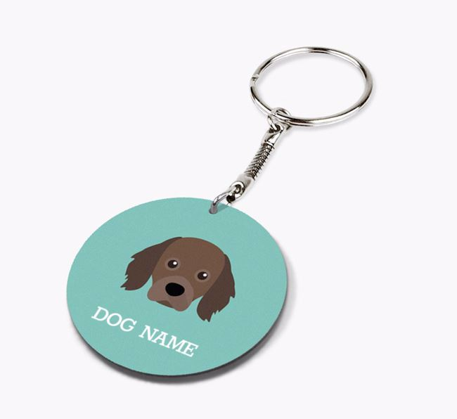 Personalised Cavapom Icon Keyring