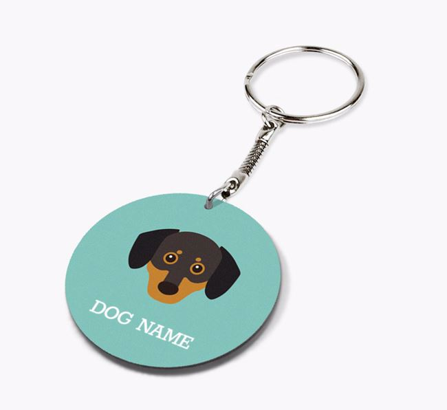 Personalised Chiweenie Icon Keyring