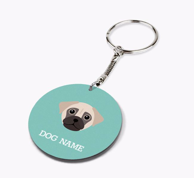 Personalised Chug Icon Keyring