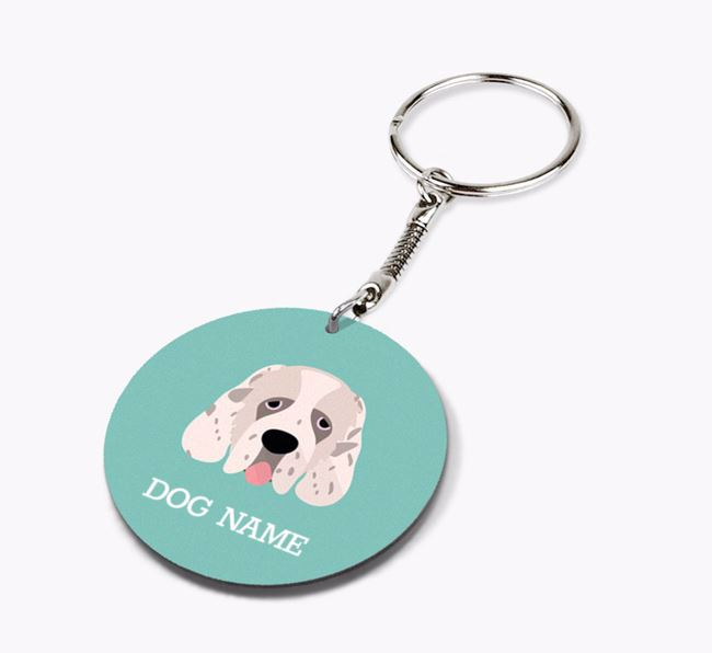 Personalised Clumber Spaniel Icon Keyring