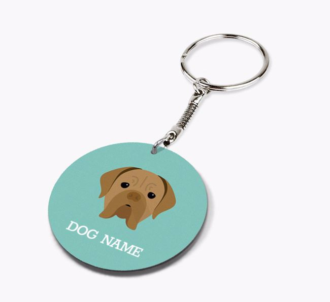 Personalised Dogue de Bordeaux Icon Keyring