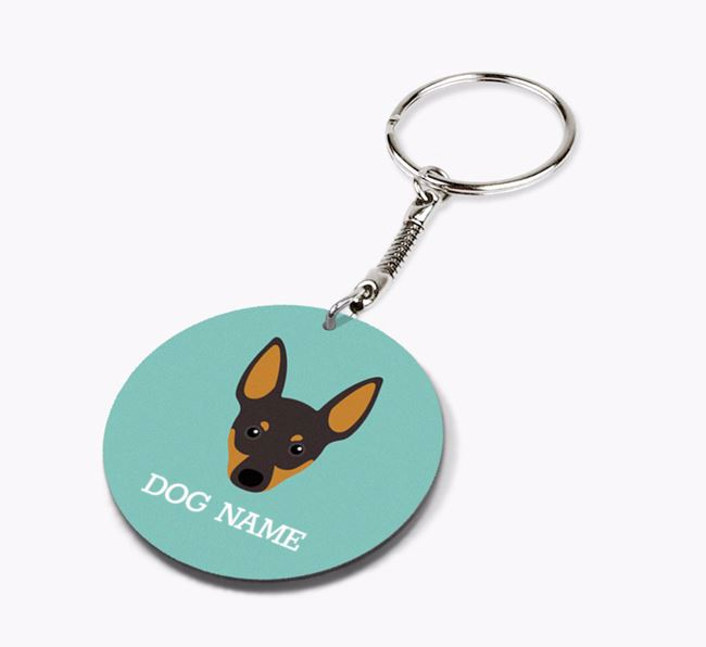 Personalised English Toy Terrier Icon Keyring