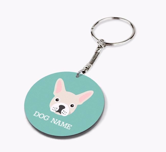Personalised French Bulldog Icon Keyring