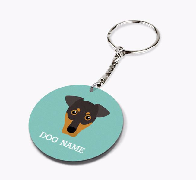 Personalised German Pinscher Icon Keyring