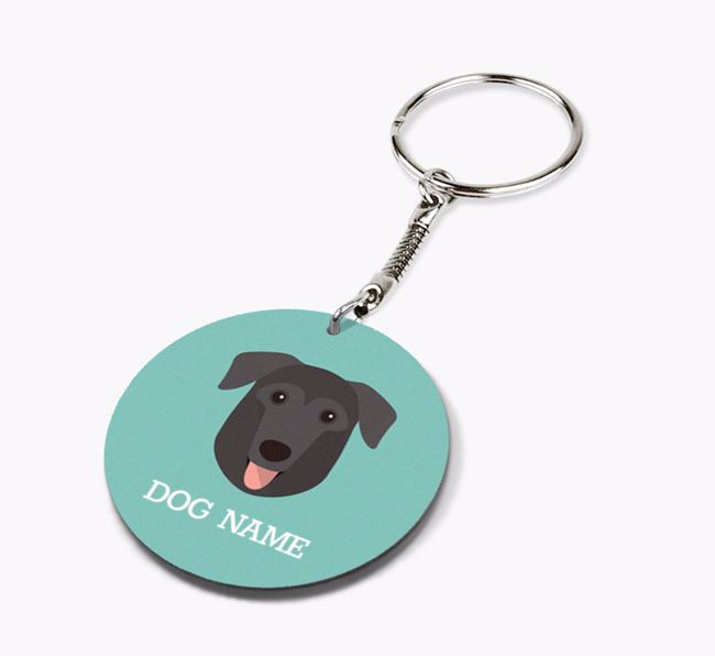 Personalised German Sheprador Icon Keyring