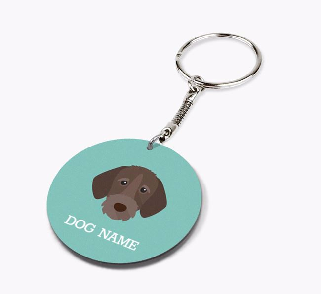 Personalised German Wirehaired Pointer Icon Keyring
