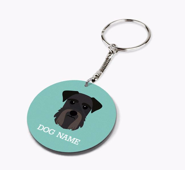Personalised Giant Schnauzer Icon Keyring
