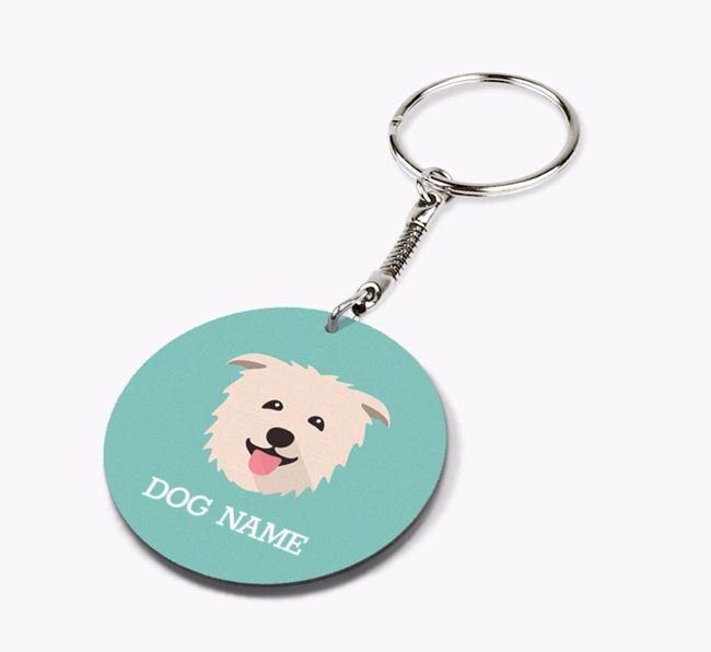 Personalised Glen Of Imaal Terrier Icon Keyring