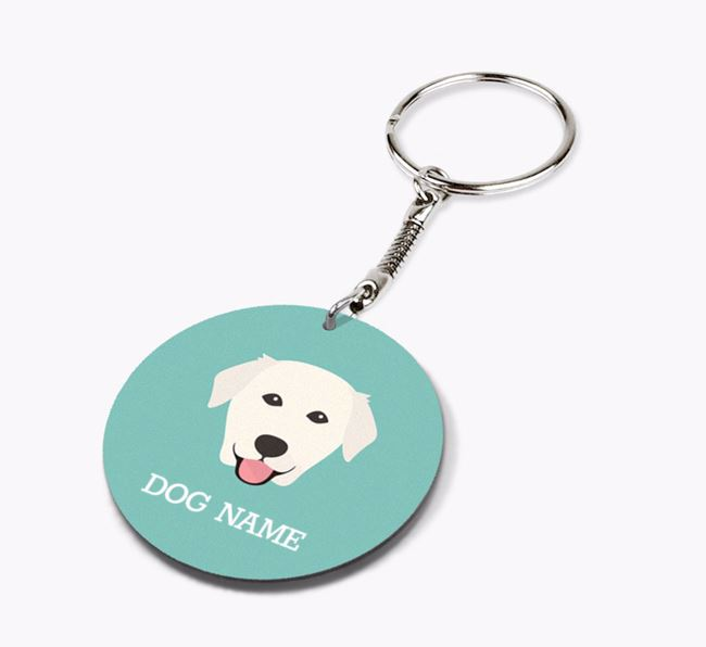 Personalised Golden Labrador Icon Keyring