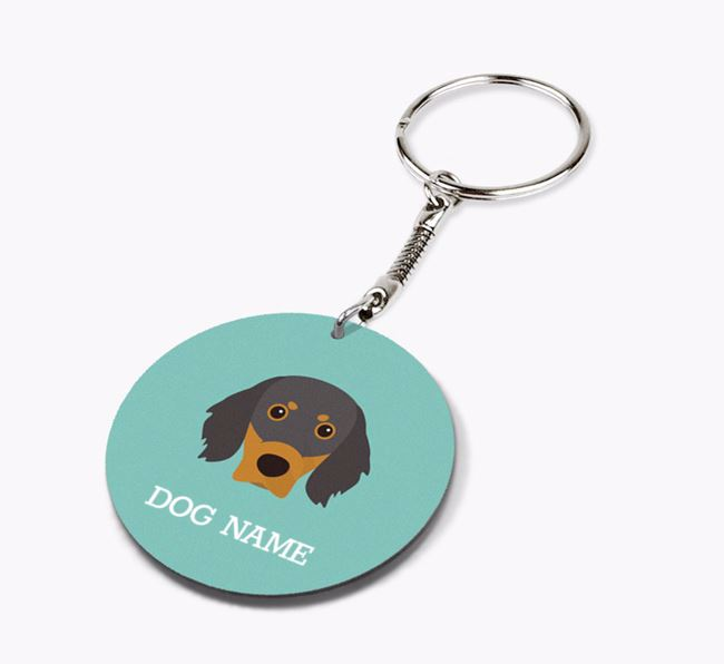 Personalised Gordon Setter Icon Keyring