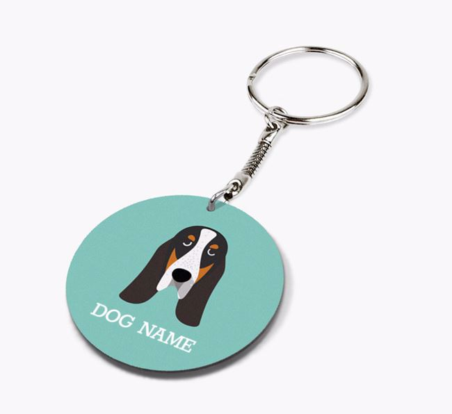 Personalised Grand Bleu De Gascogne Icon Keyring
