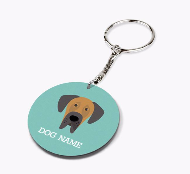 Personalised Great Dane Icon Keyring